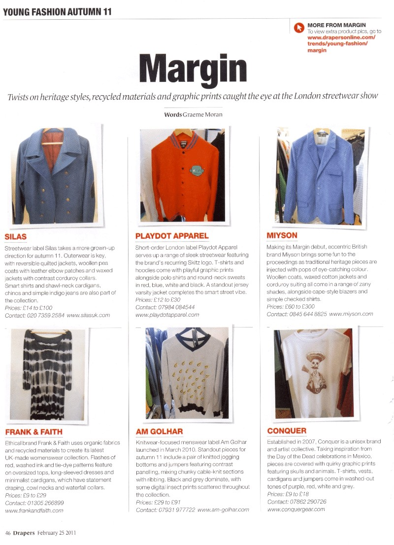 Margin London + Drapers + February 2011 + Show Report