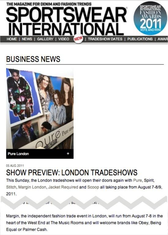 Margin London + Sportswear International