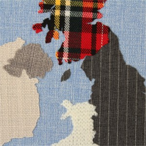 Mappliqué Fabric Map Wall Art at Margin London